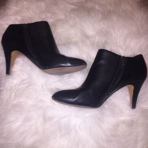 Vince Camuto Black Leather Ankle Booties Size 10